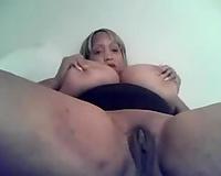 Awesome cam chat with non-professional bosomy dark black cock slut