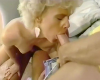 Slutty and excited whore with awesome body receives shoved by the hunks