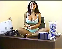 Fantastic Indian brunette with massive mambos on cam asking for ribald words