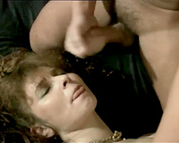 Gorgeous maid in nylons gets her hairy vagina destructed
