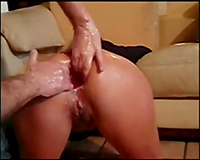 Hardcore brutal anal fisting but that does no thing to my slutty wife