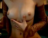 Amazing beauty fingering herself passionately