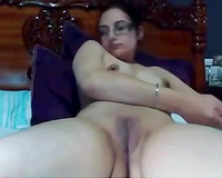 Indian appetizing dilettante cheating wife plays with her muff on cam