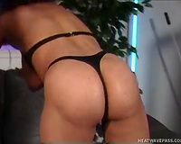 This shaggy whore gives a professional oral-job to her fellow