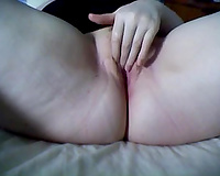 Lubricious dirty slut wife fingering soaking moist twat in non-professional video