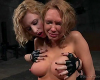 Busty blond milf getting broken down mentally in BDSM