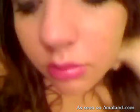 big beautiful woman white young cheating wife with gorgeous face on web camera in the shower
