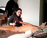 Kinky Desi wifey teases her hubby with erotic massage and cook jerking