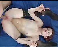 Awesome skinny college babe getting pounded hard on the ottoman