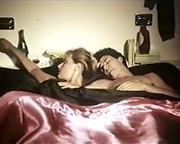 Steamy pair has avid greedy oral petting in the bedroom
