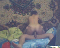 Trashy Russian whore with ample arse is riding my dick like real pro
