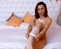 Astonishing Romanian dilettante web webcam bitch went solo for big O