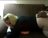 Short blonde haired housewife gave my buddy a nice oral-sex not quite nonstop