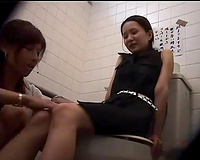 Slender Asian cutie acquires her beaver and merry billibongs mauled by aroused lesbo
