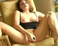 Getting her cookie reamed in her much loved squirt chair