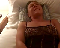 My nasty girlfriend is masturbating cookie in crotchless body stockings