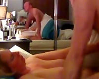 Amateur golden-haired haired flushing of big O wife got nailed missionary style