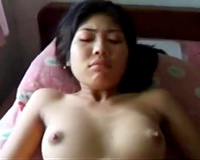 Gorgeous and lewd Asian housewife with her Indian hubby