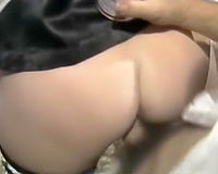 Dirty golden-haired milf housemaid banged in doggy style position upskirt