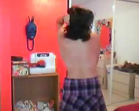 Ample Latin student undresses in front of web livecam fully undressed