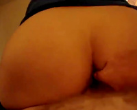 Broad assed mamma of my ally rides lengthy dong of her perverted hubby in reverse cowgirl pose
