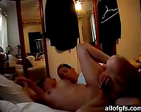 Curvy Indian girlfriend likes getting fucked on her side from behind