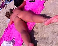 Just a hot random dirty slut wife on the nudist beach near me