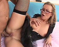 Chunky golden-haired mamma acquires her snatch and bumhole screwed like not at any time previous to