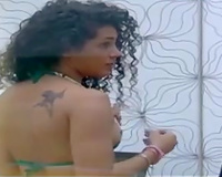 A Brazilian reality TV show beauties in the shower jointly