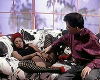 Black slut in fishnet stockings tastes so appealing