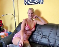 Buxom short haired auburn amateur wife of my buddy was riding him on top
