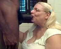 Again an highly plump mature whore finds a dark man
