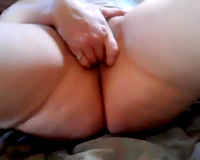 My lewd and horny girlfriend shows the 2 finger tango