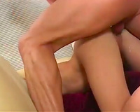 Naughty blond nympho acquires her pink love tunnel drilled from behind