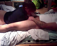 Mesmerizing completely natural and lustful large bottomed slutwife of my ally gives BJ