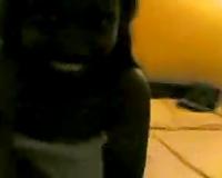 Dark skinned Sri Lankan roommate takes shower whilst I film her