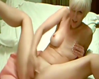Short haired auburn mother I'd like to fuck with natural scones masturbates her own wet crack