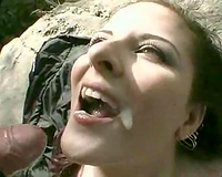 Frisky redhead prostitute takes my load up her face hole