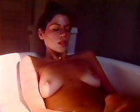 Boobalicious playgirl loved play with her wet love tunnel during the time that taking washroom