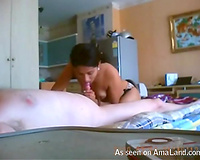 Thai hooker gave a massage in advance of riding his knob