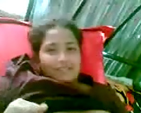 Juicy bangla girlfriend shows off her chunky titties