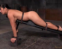 Cute Asian hawt white bitch exposes her face hole and arse for BDSM