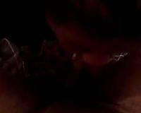 Fugly as fuck BBW doxy sucks large dark 10-Pounder in non-professional porn movie scene