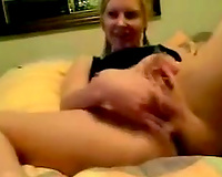 Amateur cheating wife fingering wet cunt passionately in homemade sex movie