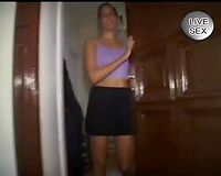Shy and hawt euro dark brown wifr getting naked on web camera