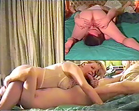Great sex tape of my buddy's golden-haired cheating wife sucking him in 69 pose