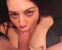 Incredible carnal oral-service from white youthful amateur housewife
