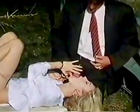 Elegantly sexy blond is giving her paramour a damn valuable oral-service