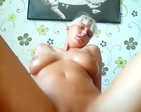 My naughty obese neighbour jerks and rides my hard dong