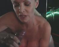 Busty Blonde Milf Fucked In Disco Club